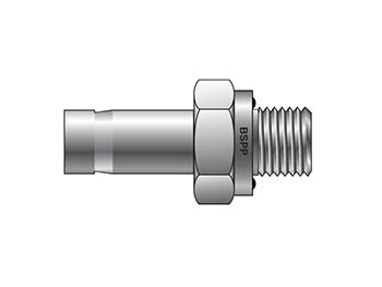 8MA6R-ED-B A-LOK Inch Tube BSPP Tube End Male Adapter with ED Seal - MA R-ED
