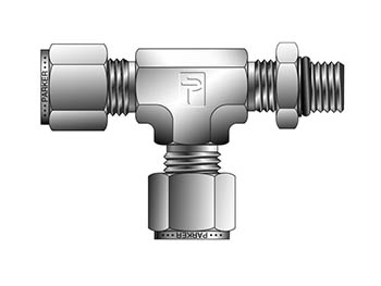 4M5RT4-B A-LOK Inch Tube Male Tee SAE Straight Thread - M5RT