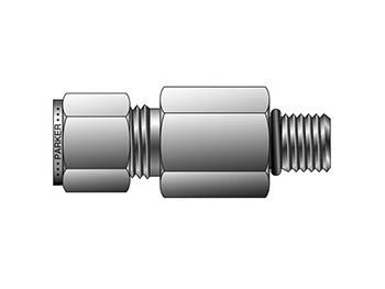 8-8 ZH3LA-316 A-LOK Inch Tube Long Male Connector SAE/MS Straight Thread - ZH3LA