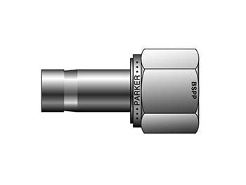 M25FA1R-S A-LOK Metric Tube BSPP Female Adapter - M FA R