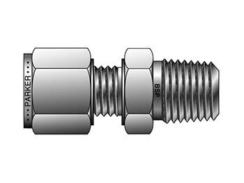 M8MSC3/8K-B A-LOK Metric Tube BSPT Male Connector - MSC