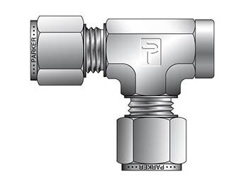 M8FRT1/8N-S A-LOK Metric Tube NPT Female Tee - FRT