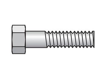 BIP-5 Inch Standard Series BIP Hex Head Bolt for Insert