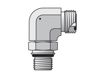 6M12C87OMLOS Seal-Lok ORFS 90° Elbow C87OMLO