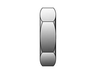 10 WLZ-B CPI/A-LOK Inch Tube Bulkhead Locknut - WLZ