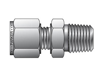 FBZ 12-3/4-SS CPI Metric Tube NPT Male Connector - FBZ
