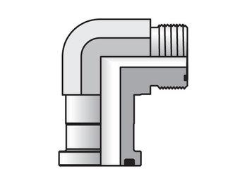 24 LOEQ1-S Seal-Lok Flange 90° Flange Adapter LOEQ1
