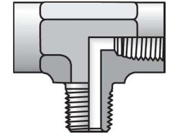 3/8 MMS-B Pipe & Port Tee MMS