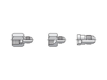 12-6 TRBTX-S Triple-Lok 37° Straight TRTX
