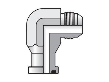 16 XEQ1-S Triple-Lok Flange 90° Flange Adapter XEQ1