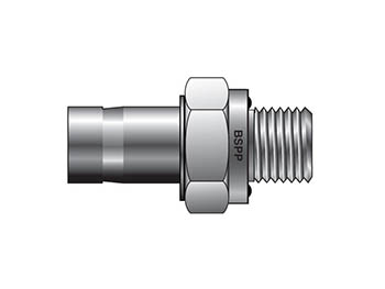 T2HF 10-1/4R-ED-SS - CPI Metric Tube BSPP Tube End Male Adapter with ED  Seal - T2HF R-ED | PartsGopher