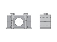 Inch Heavy Series Tube Clamp Halves