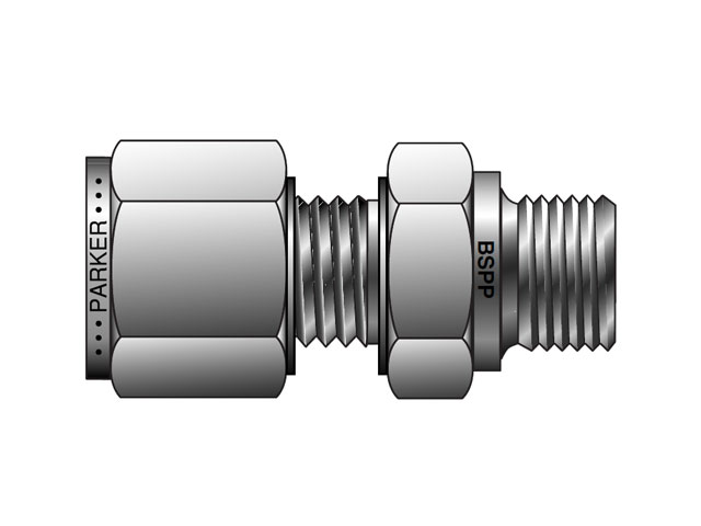 M10MSC1/2R-316 A-LOK Metric Tube BSPP Male Connector - MSC