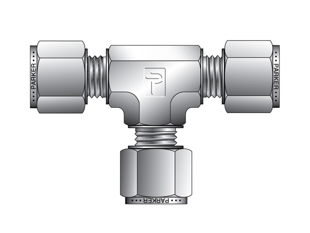 ETM12-S A-LOK Metric Tube Union Tee - ETM
