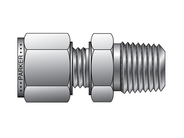 M20MSC1N-B A-LOK Metric Tube NPT Male Connector - MSC