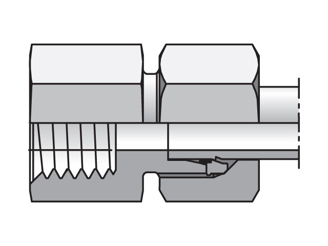 GAI10SMCF EO/EO-2 Straight, Female Connector - GAI-M