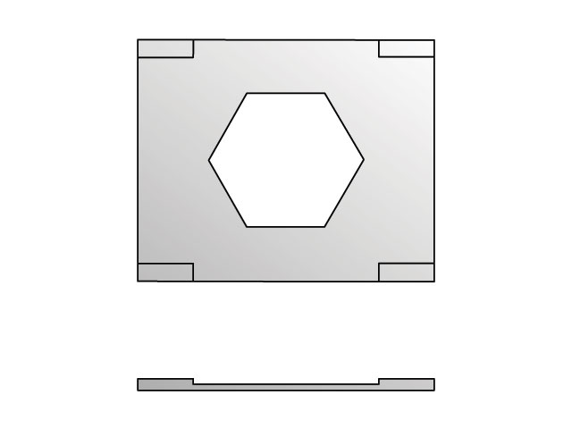 LPT-1 Inch Standard Twin Series LPT Locking Plate