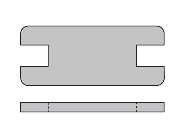 SPC1X Metric Heavy Series SPC Locking Plate