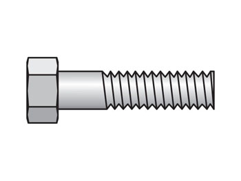 BCPH-3-SS Inch Heavy Series BCPH Hex Head Bolt for Cover Plate
