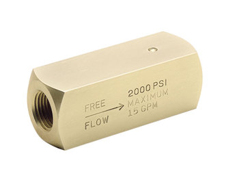 Colorflow Check Valve - SAE