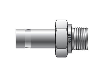 10MA8R-316 A-LOK Inch Tube BSPP Tube End Male Adapter - MA R